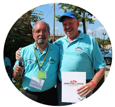 Corvette Reunion organizer Gary Drago with Michael Lysher